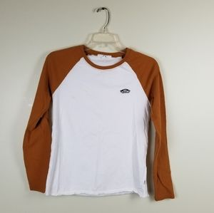 White and Brown Vans Baseball Shirt